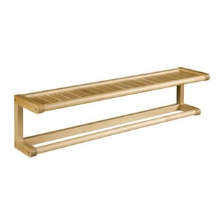 New Ridge Home Abingdon Blonde Solid Birch Wood Towel Bar with Shelf