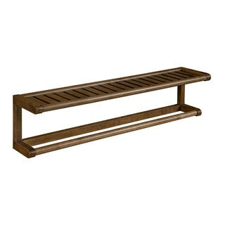 New Ridge Home Abingdon Antique Chestnut Solid Birch Wood Towel Bar