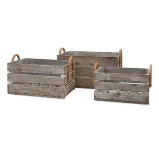 Cassie Wood Crates - Set of 3