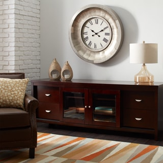 Clocks   Shop The Best Brands   Overstock com Mesick Riveted Aluminum Wall Clock. Clocks For Living Room. Home Design Ideas