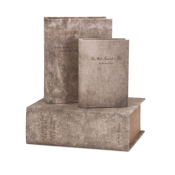 Ella Elaine Old World Book Boxes - Set of 3
