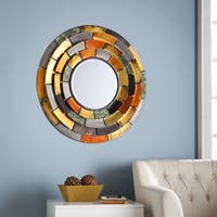 The Curated Nomad Lotta Decorative Wall Mirror with Tiered Edges