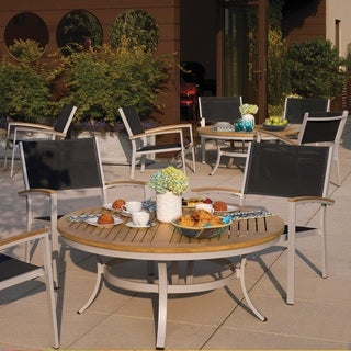 Oxford Garden Travira 5 Piece Café Set, Natural Tekwood