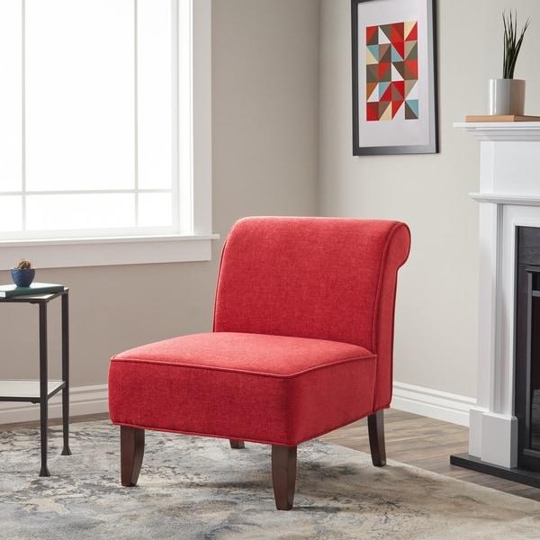 Laurel Creek Sadie Slipper Red Accent Chair