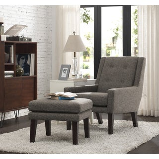 Oscar Pebble Chair and Ottoman