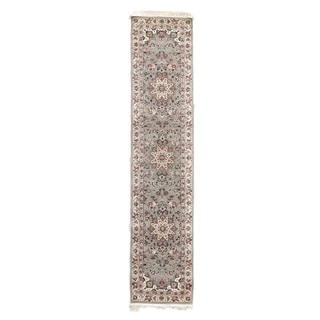 Floral Grey/Ivory New Zealand Wool Rug (2'6 in. X 12' Runner)