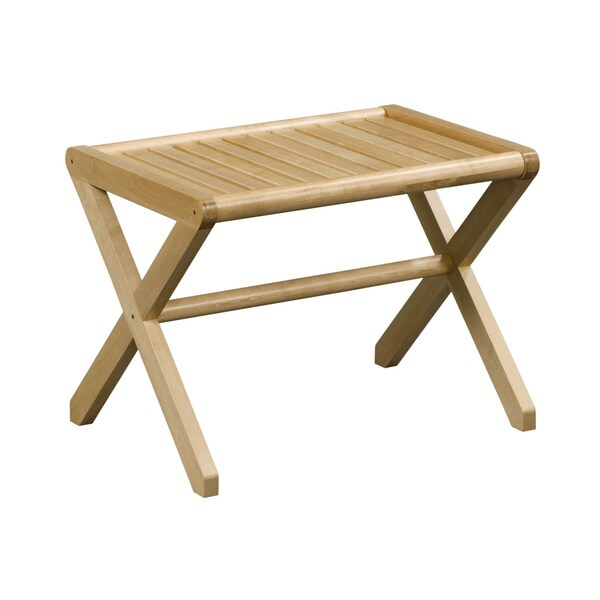 New Ridge Home Abingdon Solid Birch Wood Blonde Large Stool
