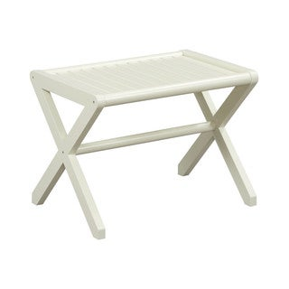New Ridge Home Abingdon Solid Birch Wood Linen Large Stool