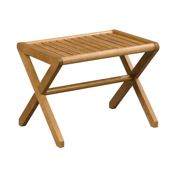 Somette Abingdon Solid Birch Wood Cinnamon Large Stool