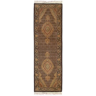 Bijar Ivory/Black New Zealand Wool Rug (2'6 in. X 8' Runner)