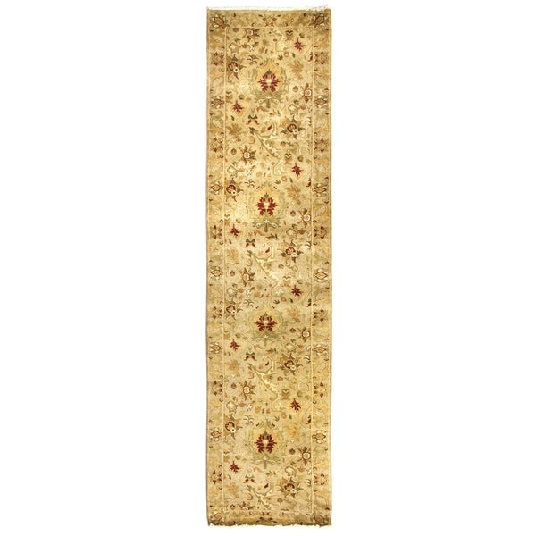 Exquisite Rugs Agra Ivory New Zealand Wool Runner Rug (2'6 x 12')