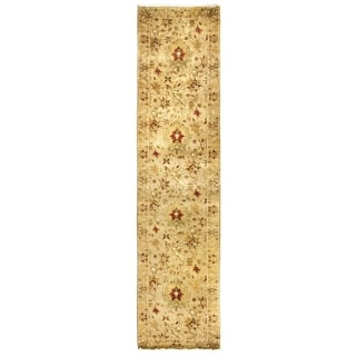 Agra Ivory New Zealand Wool Rug (2'6 in. X 12' Runner)