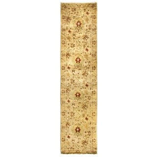 Exquisite Rugs Agra Ivory New Zealand Wool Runner Rug - 2'6 x 12'