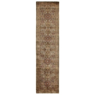 Exquisite Rugs Agra Gold / Ivory New Zealand Wool Runner Rug (2'6 X 10' Runner) - 2'6 x 10'