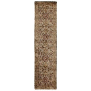 Exquisite Rugs Agra Gold / Ivory New Zealand Wool Runner Rug (2'6 x 10')