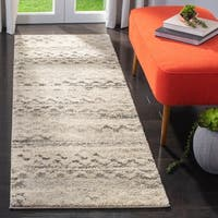 Safavieh Retro Modern Abstract Cream/ Grey Distressed Rug - 2'3 x 11'