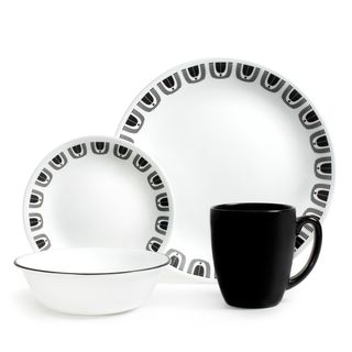 Corelle Black Night 16-Piece Dinnerware Set