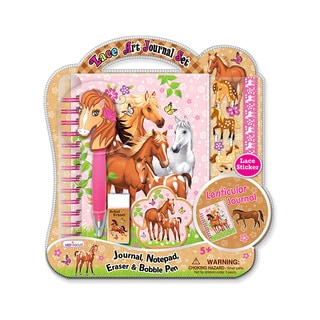 Enchanted Horse 3D Lace Art Journal Set with Bobble Pen