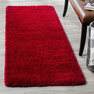 Safavieh California Cozy Plush Red Shag Rug (2' 3 x 13')