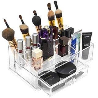 acrylic 15section large makeup organizer