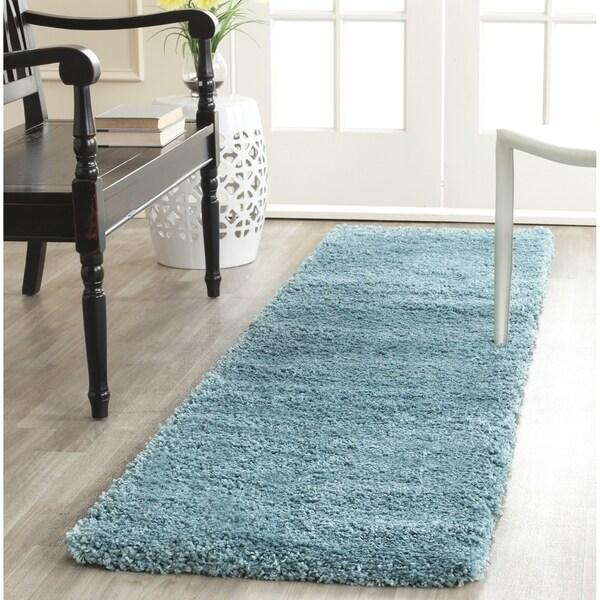 Safavieh Milan Shag Aqua Blue Rug (2' x 12')