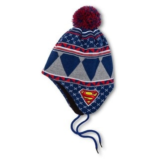 Superman Shoelace Peruvian Style Cap