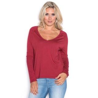 Beam Women's Red Long-sleeve T-shirt