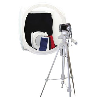 Square Perfect Platinum Photo Studio In A Box with 2 Light Tents & 8 Backgrounds