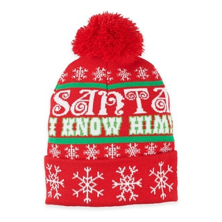 Elf Santa 'I Know Him' Beanie