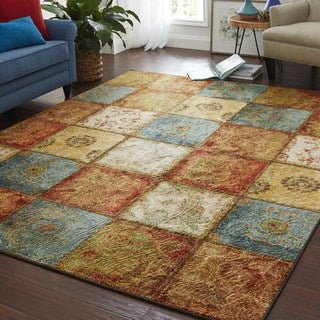 Laurel Creek Oswin Artifact Panel Transitional Eco-Friendly Rug - 6' x 9'