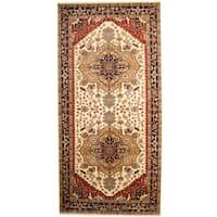 Handmade Herat Oriental Indo Serapi Wool Runner  - 8'9 x 18'1 (India)