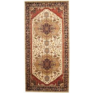 Herat Oriental Indo Hand-knotted Serapi Wool Runner (8'9 x 18'1)