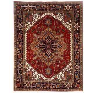 Herat Oriental Indo Hand-knotted Serapi Wool Rug (8' x 10'1)