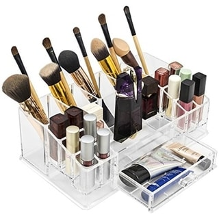 Acrylic 16-Section Large Makeup Organizer