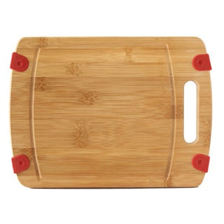 Culinary Edge by Kalorik Premium Bamboo NonSlip Bamboo Cutting Board 12'' x 9'' x .7''