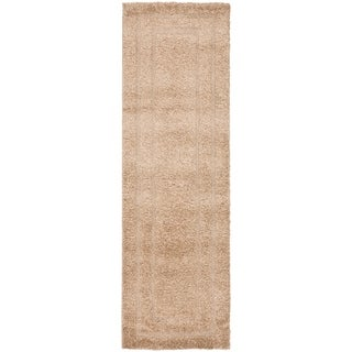 Safavieh Shadow Box Shag Beige/ Beige Rug (2' 3 x 13')