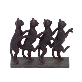 Row Of Lexington Standing Cats Decor