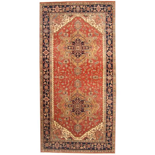 Herat Oriental Indo Hand-knotted Serapi Wool Runner (8'9 x 20'9) - 8'9 x 20'9
