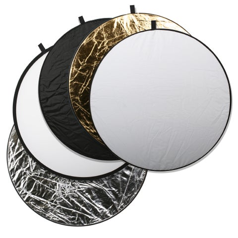 Square Perfect Collapsible 43-Inch 5-in-1 Light Photo Disc Reflector (Set of 5)