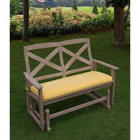 Cambridge Casual West Lake Glider Bench with Yellow Seat Pad