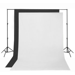 Square Perfect 10 x 20 Feet Black or White Muslin Photography Backdrop