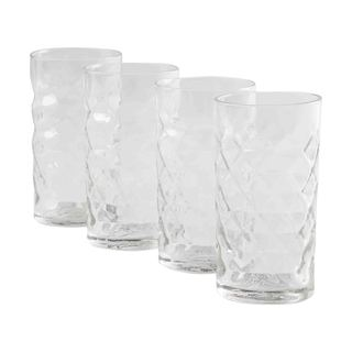 TAG Faceted 8oz Tumbler Set of 4