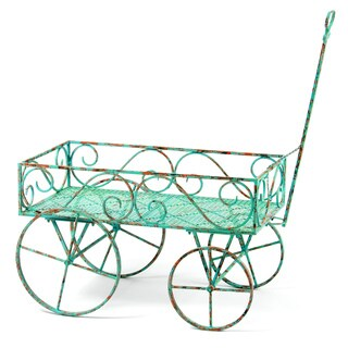 Large Steel Garden Plant Decor Wagon