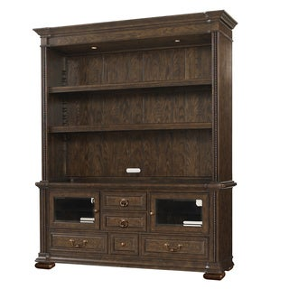 Hazelton Console and Bookcase in Dark Brown