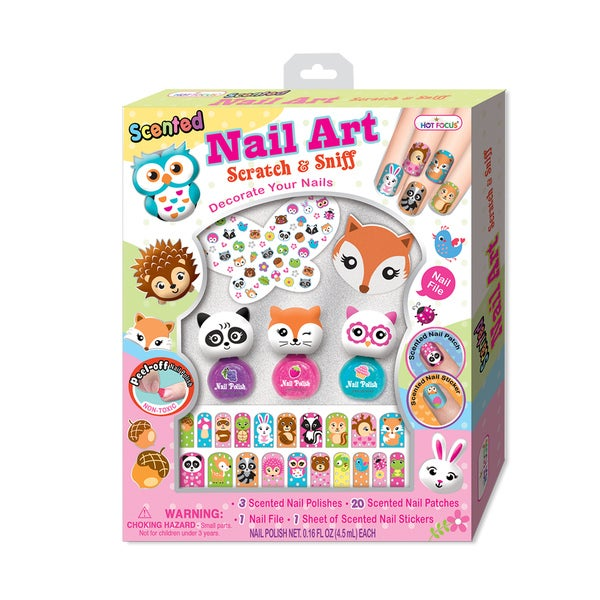 Hot Focus Flower Critter Scented Nail Collection