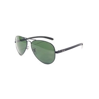 Ray-Ban RB8307 002/N5 58mm Polarized Green Classic Lenses Black Frame Sunglasses