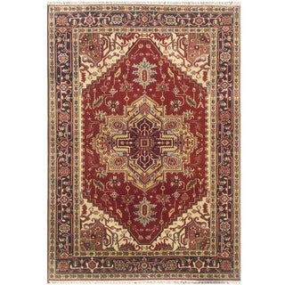 Herat Oriental Indo Hand-knotted Serapi Wool Rug (6'1 x 8'11)