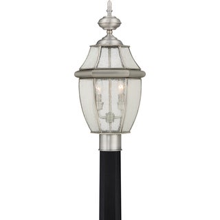 Quoizel Newbury with Seedy Glass Pewter Finish Post Lantern