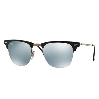 Ray-Ban Clubmaster Light Ray RB8056 176/30 Unisex Black/Brown Frame Green Mirror Lens Sunglasses