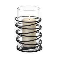 Danya B. Swirl Metal and Glass Hurricane